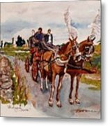 Afternoon Coachride Metal Print