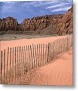 Afternoon In Snow Canyon Metal Print