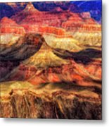 Afternoon Light At Mather Point, Grand Canyon Metal Print