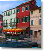 Afternoon Stroll In Murano  Metal Print