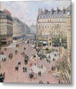Afternoon Sun In Winter Metal Print by Camille Pissarro