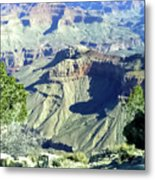 Afternoon View Grand Canyon Metal Print