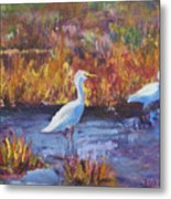 Afternoon Waders Metal Print