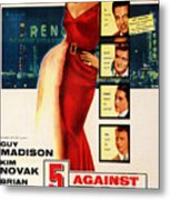 Against The House Film Noir  Metal Print