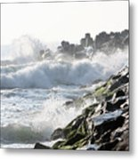Against The Rocks Metal Print