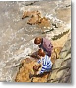 Against The Tide Metal Print
