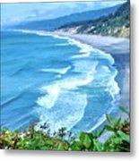 Agate Beach Metal Print