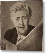 Agatha Christie 3 Metal Print