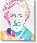Agatha Christie Watercolor Tribute Metal Print
