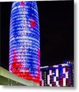 Agbar Tower In Barcelona Metal Print