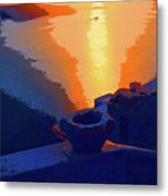 Agean Sunset Metal Print