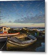 Aging Boats On Trocadero Pipe Puerto Real Cadiz Spain Metal Print