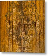 Aging Decorative Door Metal Print