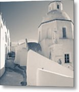 Agios Minas Santorini Bw Metal Print