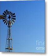 Agricultural Windmill Metal Print