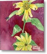 Ah Sunflowers Metal Print