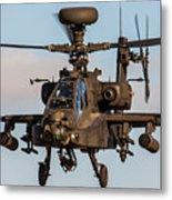 Ah64 Apache Flying Metal Print by Ken Brannen
