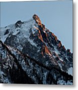 Aiguille Du Midi Chamonix French Alps Metal Print by Pierre Leclerc Photography