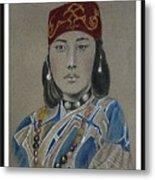 Ainu Woman -- Portrait Of Ethnic Asian Woman Metal Print