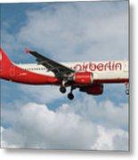 Air Berlin Airbus A320-214 Metal Print