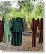 Air Dried Laundry Metal Print