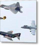 Air Force Heritage Flight Luke Afb Arizona March 19 2011 Metal Print
