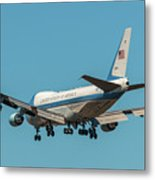 Air Force One On Final Approach Into Charleston South Carolina Metal Print