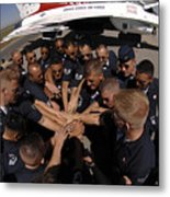 Air Force Thunderbird Maintainers Bring Metal Print by Stocktrek Images