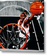 Air Jordan Above The Rim Metal Print