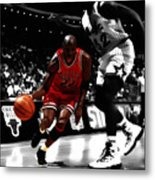 Air Jordan On Shaq Metal Print