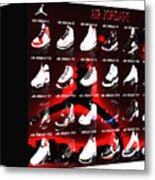 Air Jordan Shoe Gallery II Metal Print