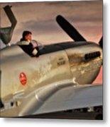 'air Racing Legends Jimmy Leeward And  The Galloping Ghost' Metal Print