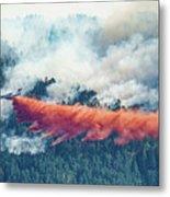 Air Tanker On Crow Peak Fire Metal Print