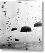 Airborne Mission During Ww2  Metal Print