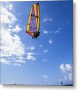 Airborne Over A Calm Ocea Metal Print