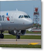 Airbus A319  On Taxi Metal Print