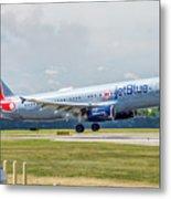 Airbus A320 Boston Strong Metal Print