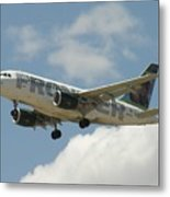 Airbus A320 Denver International Airport Metal Print