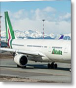 Airbus A330 Alitalia With New Livery  Metal Print