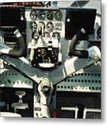 Aircraft Airplane Control Panel Metal Print