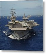 Aircraft Carrier Uss Ronald Reagan Metal Print by Everett