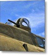 Aircraft Top Machine Gun Metal Print