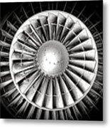 Aircraft Turbofan Engine Metal Print