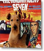 Airedale Terrier Art Canvas Print - The Magnificent Seven Movie Poster Metal Print