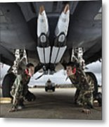 Airmen Check The Gbu-39 Small Diameter Metal Print by Stocktrek Images