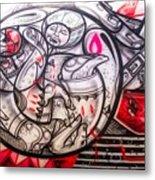 Airplane Grafitti Metal Print