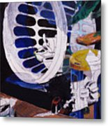 Airplane In A Laundry Basket Metal Print