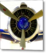 Airplane Propeller And Engine T28 Trojan 01 Metal Print