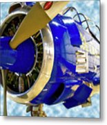 Airplane Propeller And Engine T28 Trojan 02 Metal Print