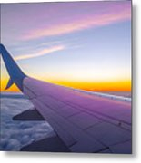 Airplane Window Metal Print